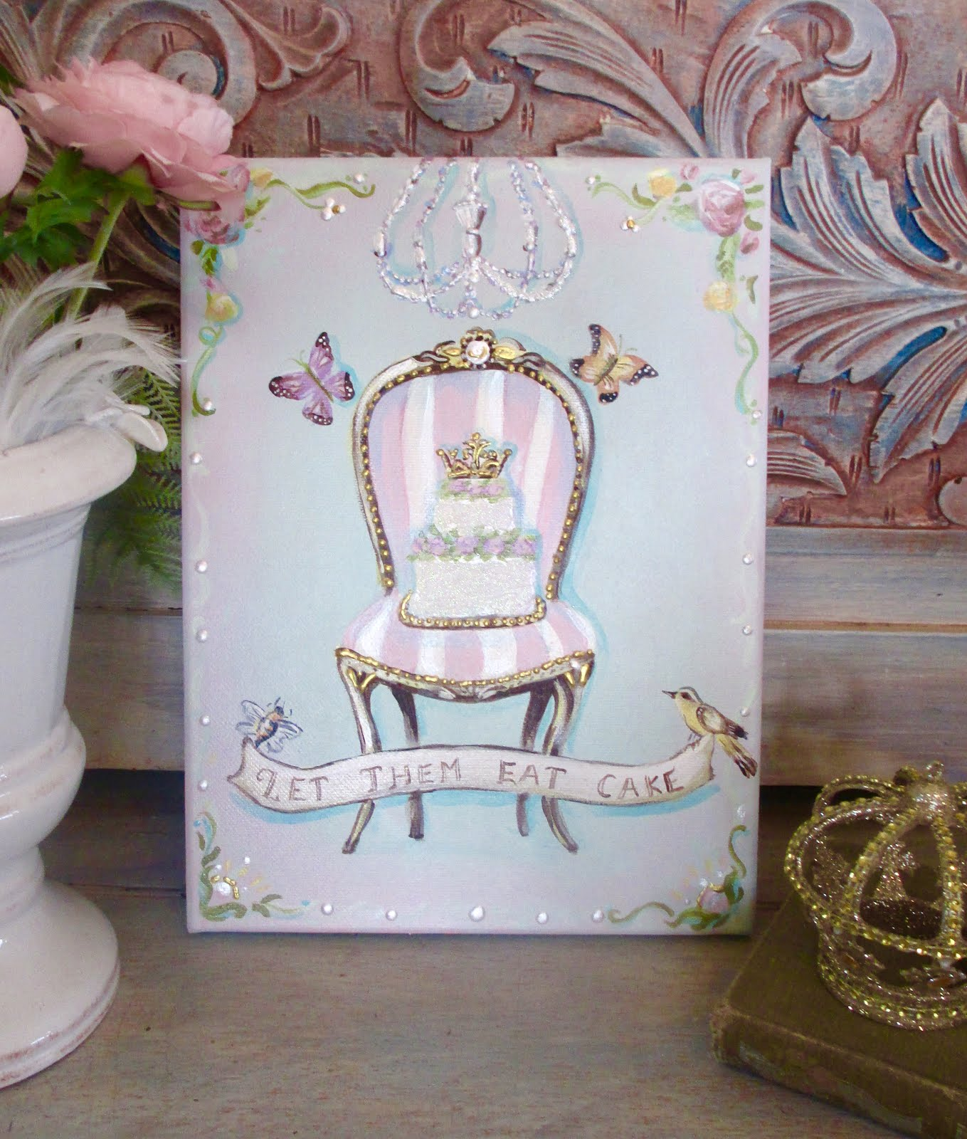 Channel you inner royal with a Marie Antionette inspired whimsical painting