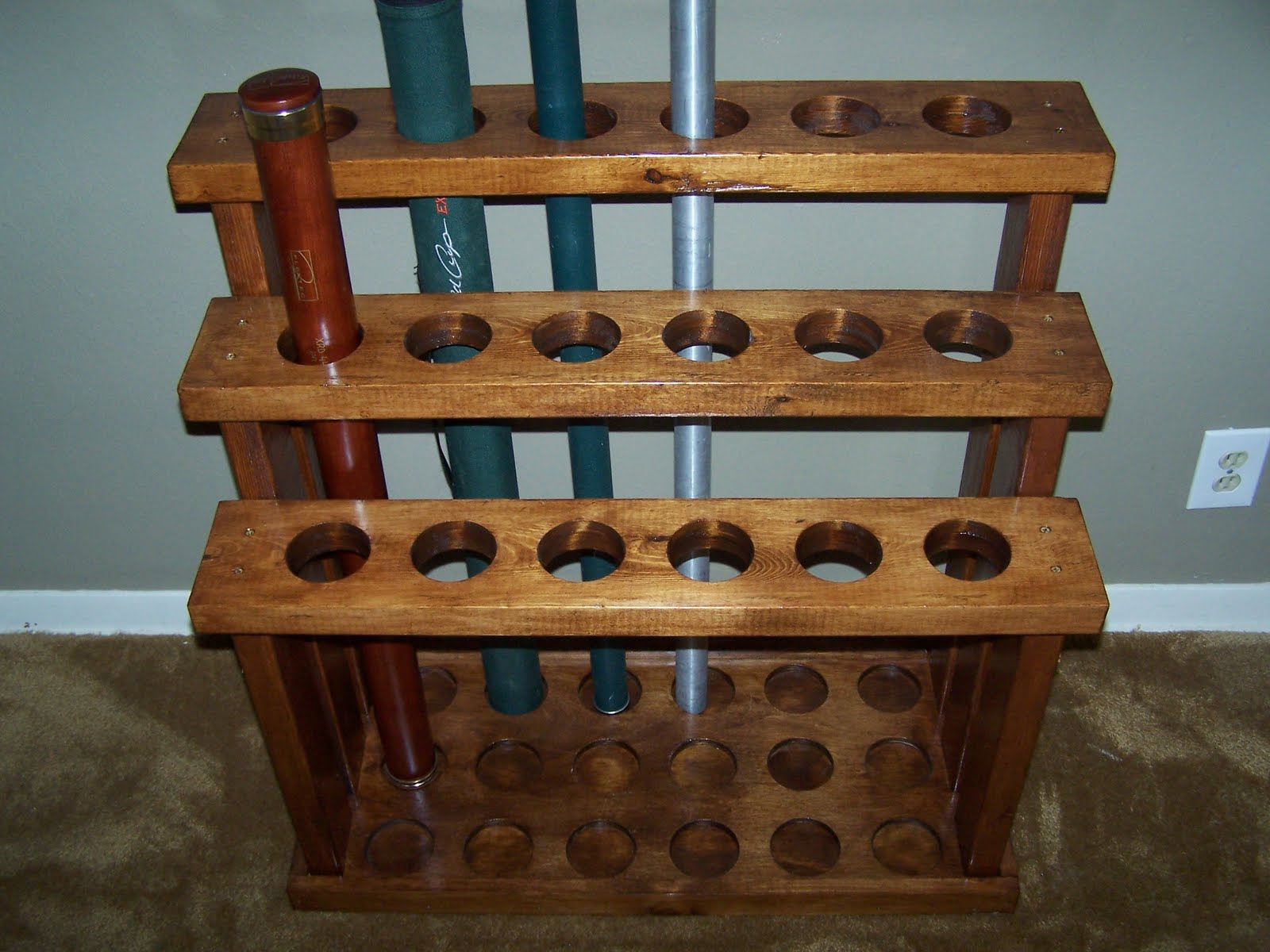 Needed craftsman willing to build some rod tube racks for Fly fishing rod holder