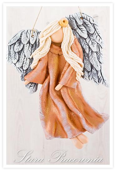 aniołek z masy solnej, masa solna, aniołki z masy solnej, salt dough angels, anioł anioły z masy solnej