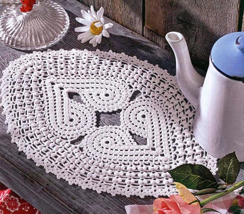 toalhas em croche em croche com receita