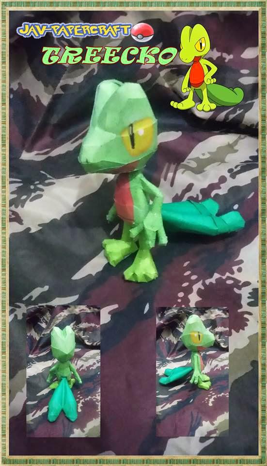 Treecko Paper Model