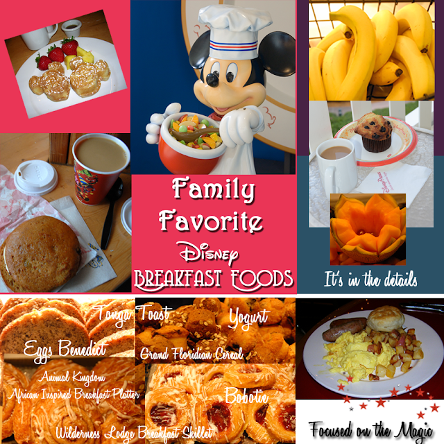 Disney Breakfast Food Favorites