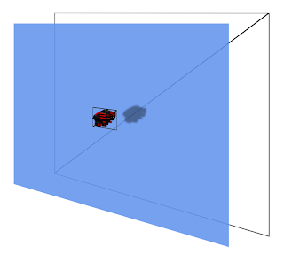 Example of a 2D scene created with 3D vertices