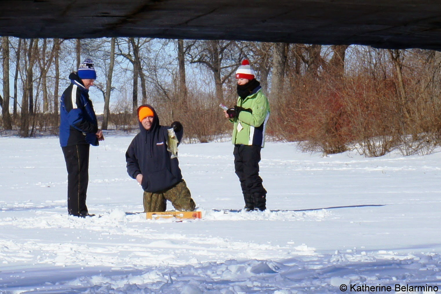 Ice Fishing at Tenney Park Madison Wisconsin