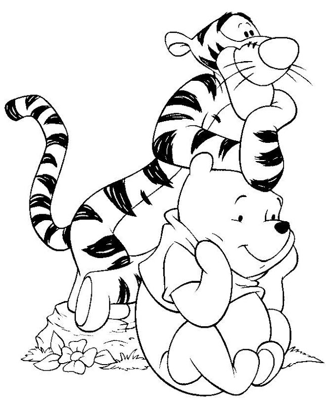Disney Cartoon Characters Coloring Pages title=