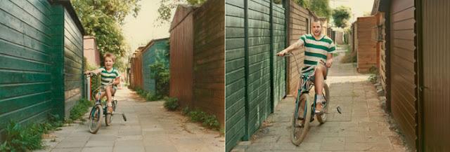 De volta ao futuro - Menino bicicleta e adulto bicicleta - Gnvision