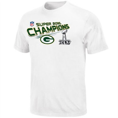 NFL Green Bay Packers Super Bowl 45 XLV Champions T-Shirt from Reebok.
