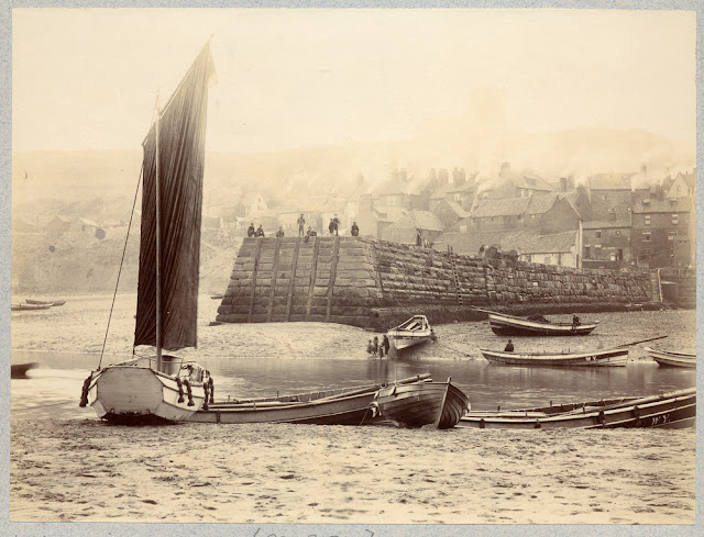 Whitby Harbour, by W.J. Harrison, 1897.