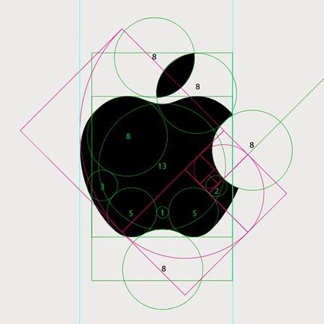 Apple logo breakup