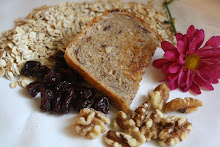 Hearty Oatmeal Bread with walnuts & dried cherries . . .