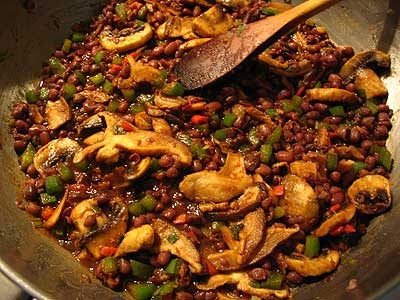 Yunnan Stir-Fried Azuki Beans and Green Pepper