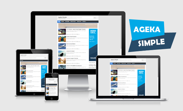 Ageka Simple responsive Blogger template