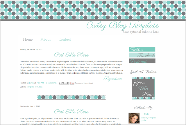Wide layout Cute Blogger Template