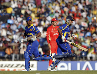 Kumar Sangakkara and Mahela Jayawardene shared a 179-run stand