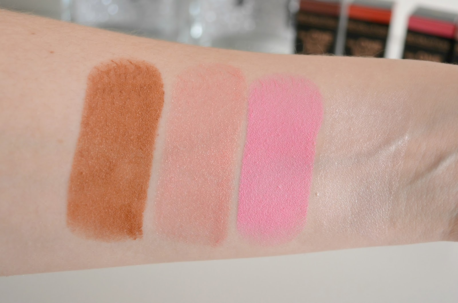 Makeup Revolution The One blush sticks review sheen formula swatches