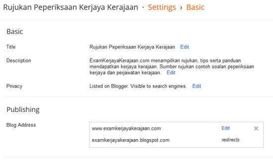 Tips SEO Blogspot