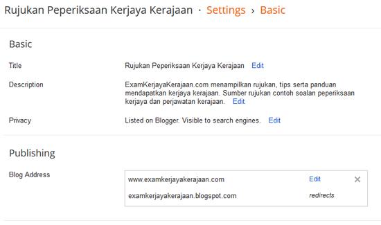 Tips SEO Blogspot