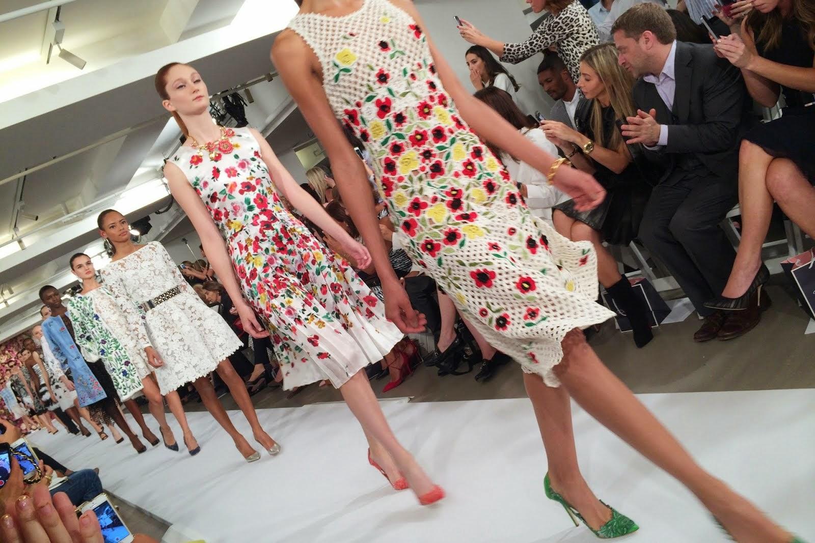 Oscar de la Renta's spring/summer 2015 floral dresses