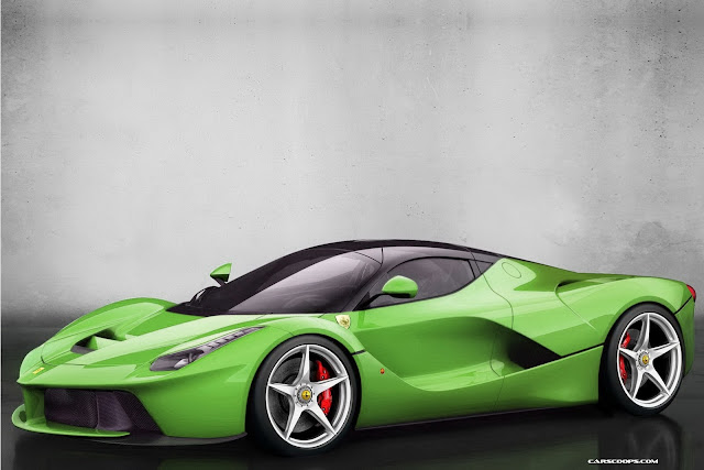 ferrari laferrari lime green