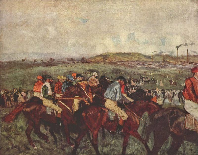 Course de gentlemen, avant le départ, 1862