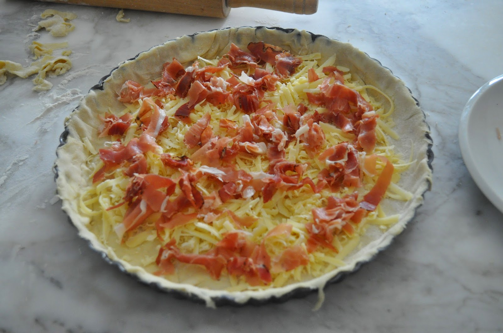Cooking with manuela quiche with asparagus and speck for Decoration quiche