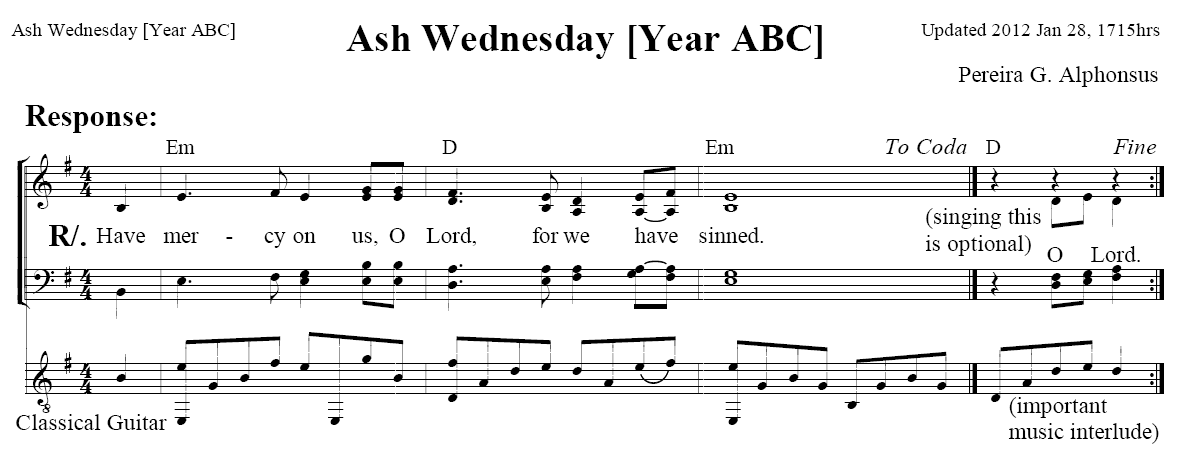 Welcome Responsorial Psalm Ash Wednesday Abc