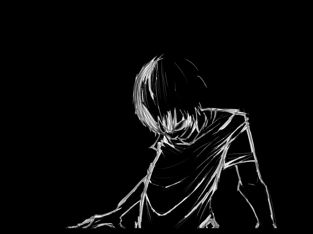 Alone Sad Emo Winter Anime Pictures Www Picturesboss Com