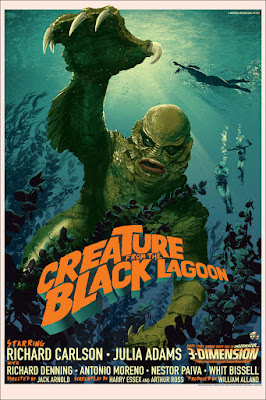 Creature from the Black Lagoon Standard Edition Screen Print by Stan & Vince