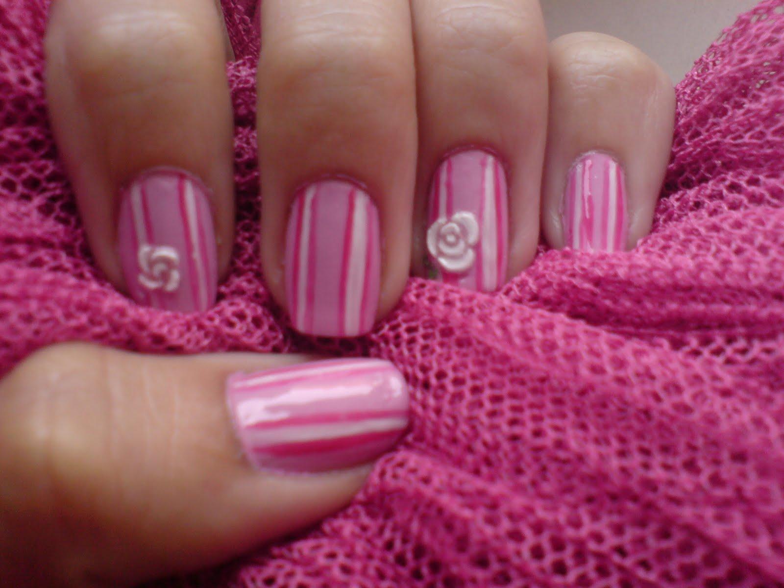 Fairyana nail art vintage rose nail art vintage rose prinsesfo Gallery