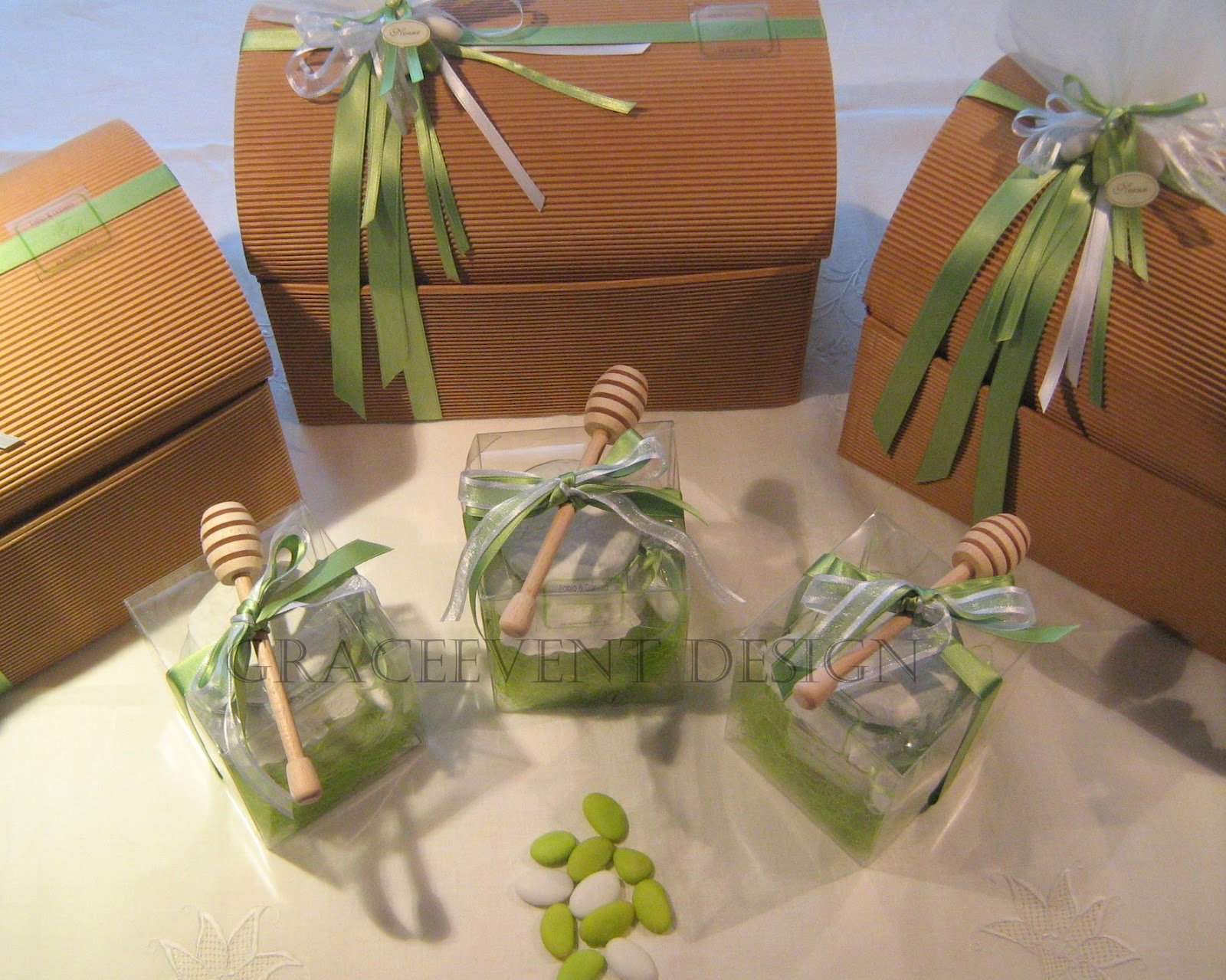 Nozzeeventi bio ed eco chic matrimonio verde mela dalla - Idee bomboniere testimoni di nozze ...