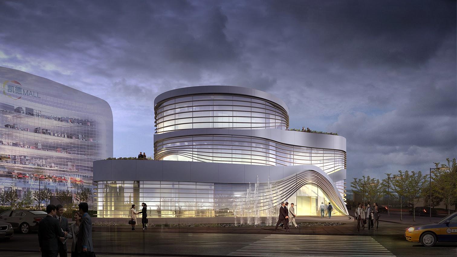 """Future Design Architecture : Architecture as Aesthetics: Latitude Studio Designs """"Future Mall ..."""