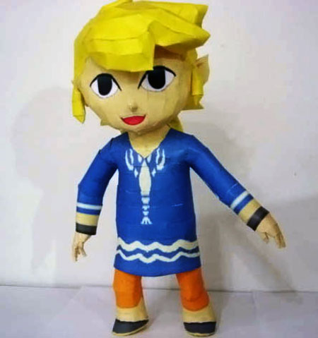 Papercraft - the wind waker - outset link (zelda)