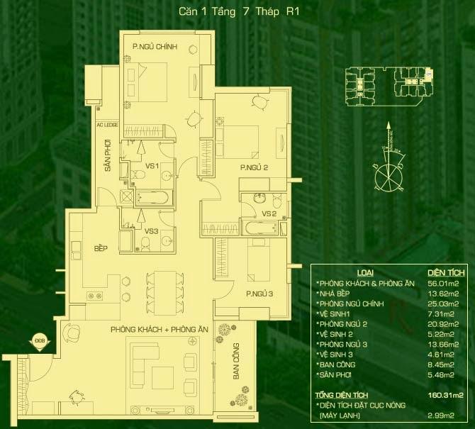 căn 1 lâu 7 tháp R1 everrich