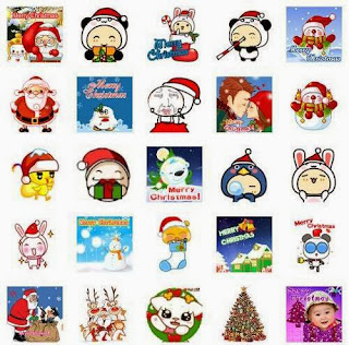 WeChat Merry Xmas 2015 and New Year 2016 Animated Emoticons Bbm Skype