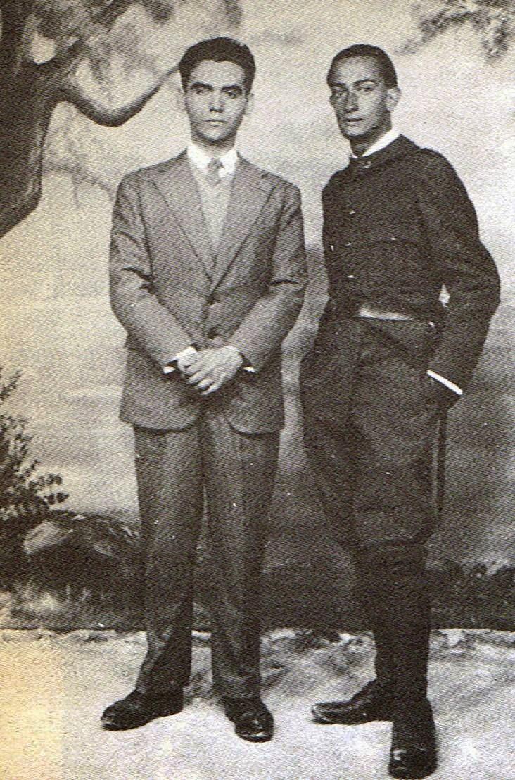 Lorca y Dali, cuando este hacía el servicio militar en 1927