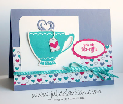 Stampin' Up! A Nice Cuppa Tea-riffic card for #PSC06 and #GDP021 Pocket Sketch Challenge www.juliedavison.com #stampinup