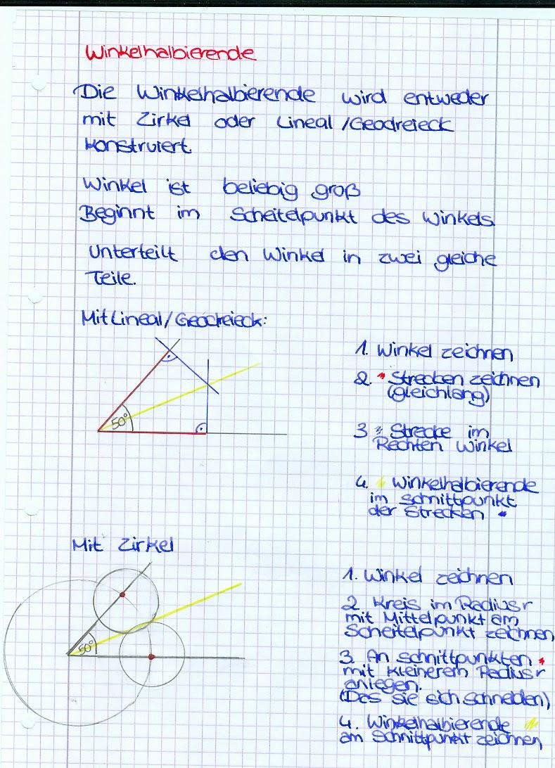 Schulblog: Mathe Winkelhalbierende