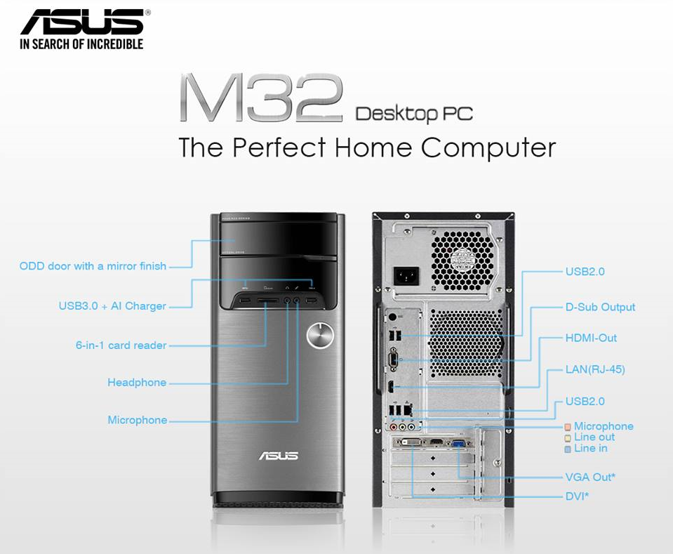ASUS M32 desktop PC Specs, Price and Availability