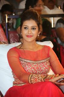 Pooja Jhaveri at Boleenath Movie AUdio Launh in Beautiful Red Anarkali Dress