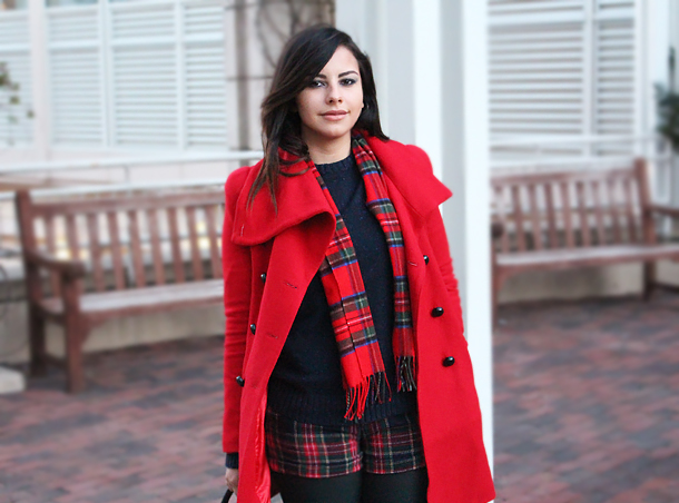 asos red christmas tartan outfit ootd