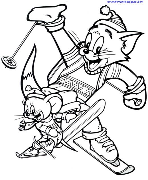 tom and jerry fighting with sword tom and jerry coloring pages