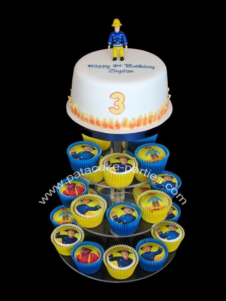 Pat A Cake Parties Fireman Sam Cupcake Tower