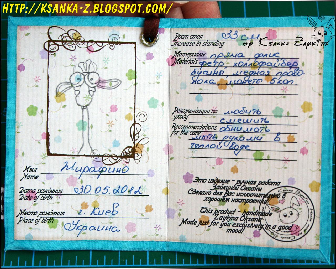 Как сделать паспорт из бумаги