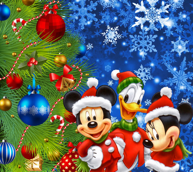christmas tree pictures with cartoons