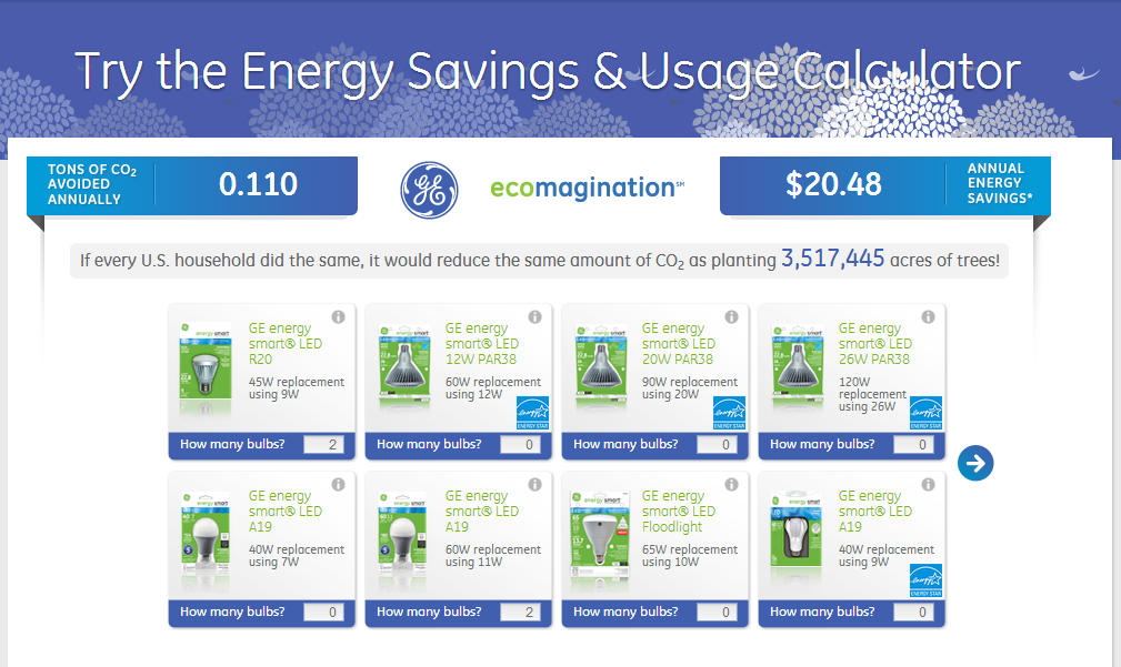 Energy Savings Calculator #LEDSavings #shop #cbias