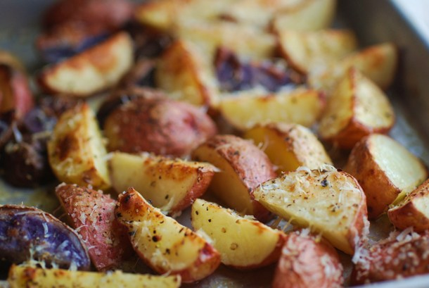 Parmesan Roasted New Potatoes - Always Order Dessert