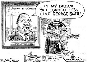 Zapiro: Obama's dreams.