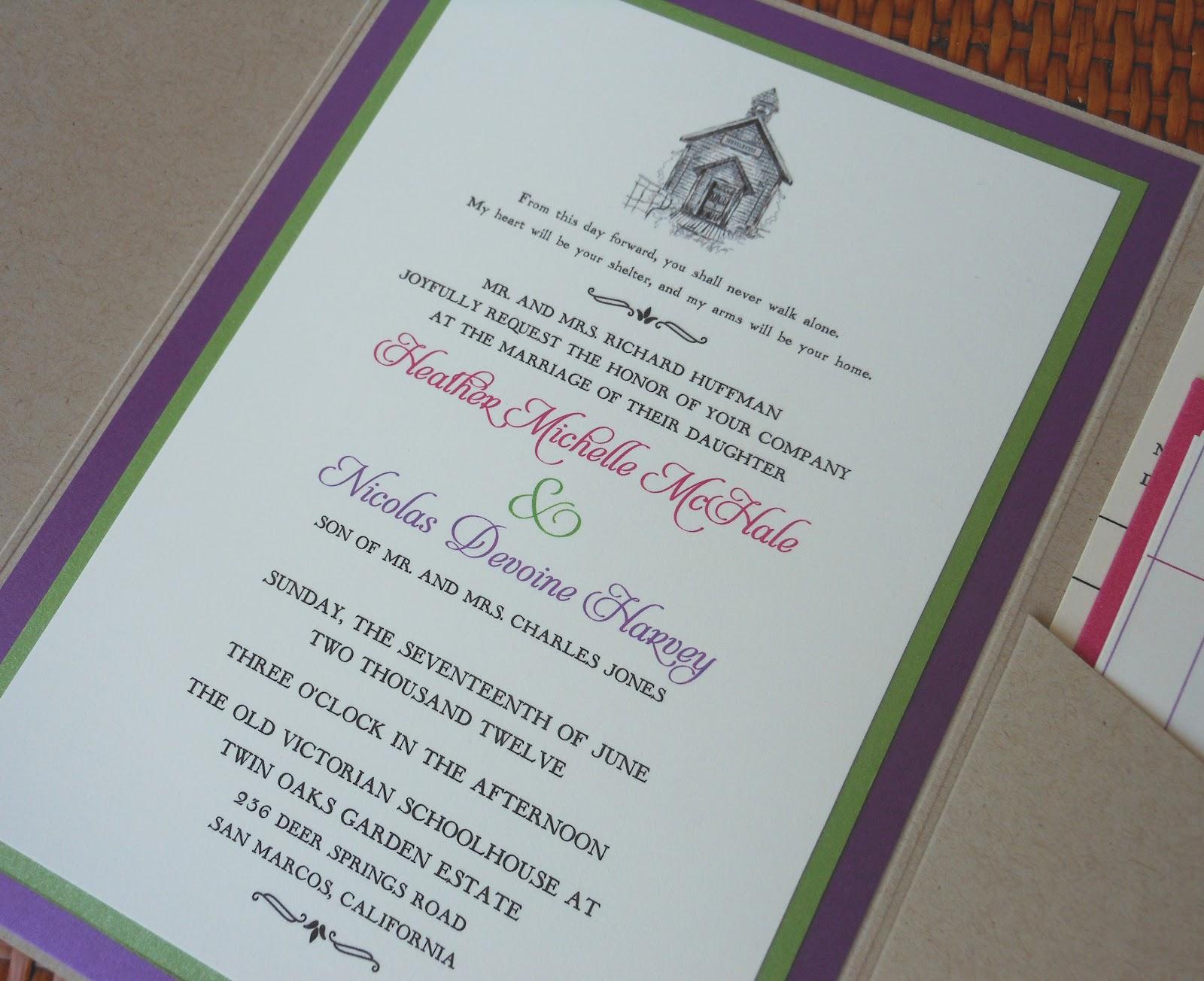 kim grant, ink & such: School Themed Wedding Invitation