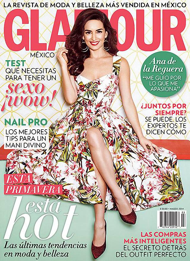 Ana de la Reguera en Glamour Magazine México Marzo 2014