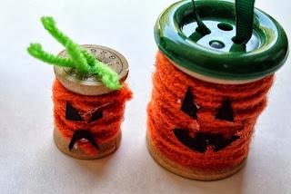 Reciclatex 2 Cuenta atrás para Halloween 2013, Monstruos con carretes de hilo